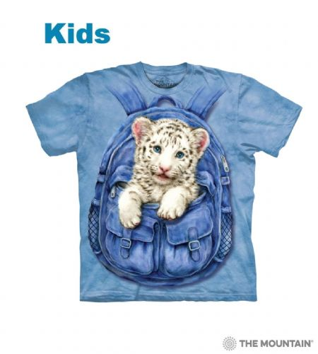 Backpack White Tiger - Kids Big Cat T-shirt - The Mountain®